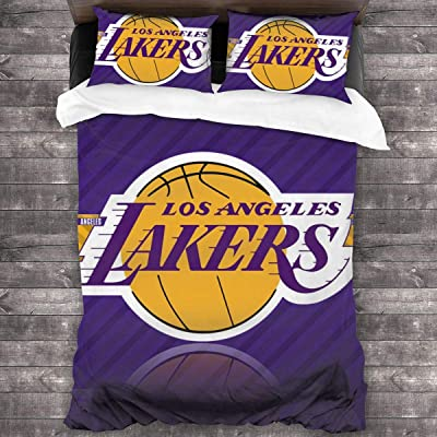 Dopy Los Angeles Home Quilt Set Full Size for Men Kids Teenagers Basketball Fans 3-Piece Queen Bedding Set: Home & Kitchen