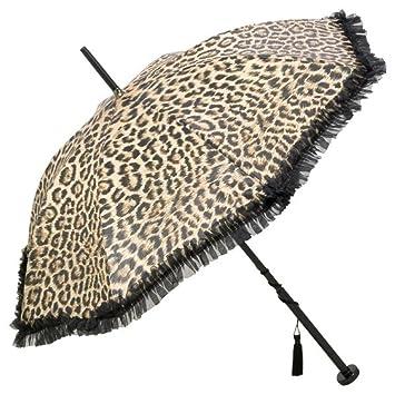 Guy de Jean Diseñador Señoras paraguas con estampado de leopardo y Troddelquaste - Made in Paris: Amazon.es: Equipaje