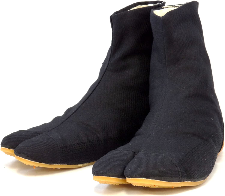 Rikio Ninja Tabi Shoes Low Top Comfort-Cushioned! Black Jikatabi