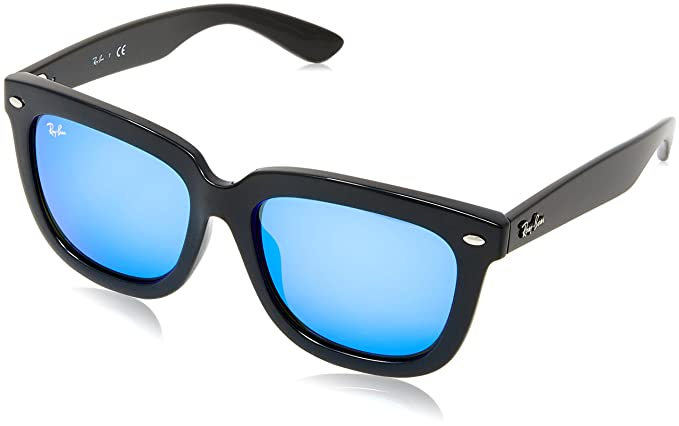 b50aea5ae69 Image Unavailable. Image not available for. Colour  Ray Ban Sunglasses  RB4262D 601 55 57-18 Black Blue Mirror