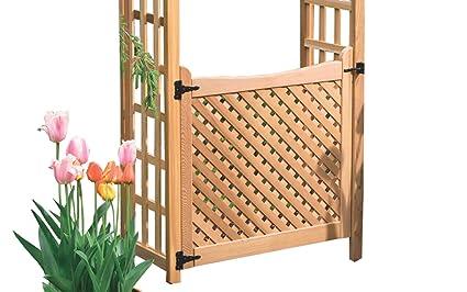Arboria Arbor Gate Cedar Wood With Lattice And Designer Hinges