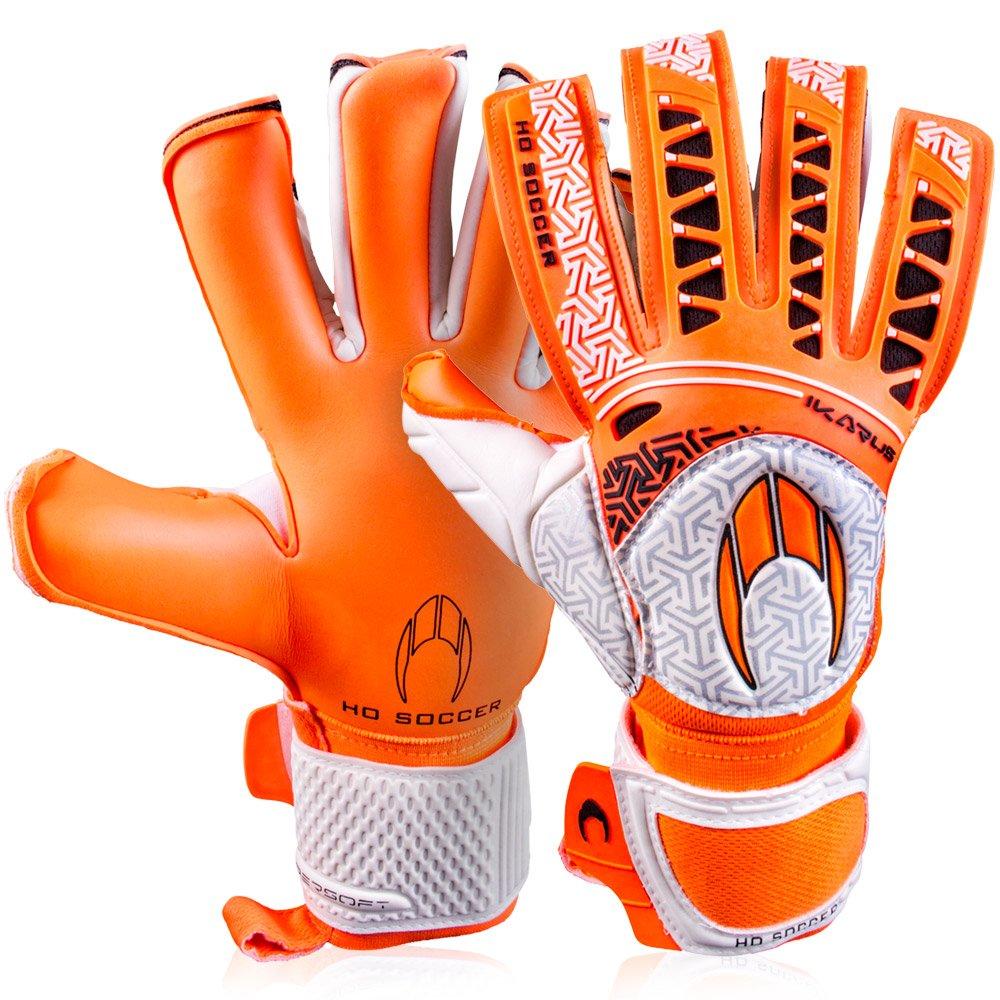 メンズHo Soccer Ikarus Club Colour Pack Roll / Negゴールキーパーグローブサッカーフットボールのオレンジ B076C46DY19.5