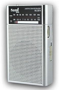 SAMI-RS2974 Radio analógica SAMI de Bolsillo de 2 Bandas FM ...