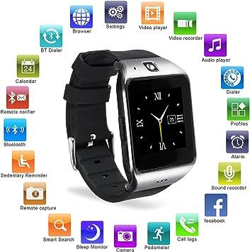 HAMSWAN Smartwatch Bluetooth, [Regalo] Reloj Inteligente Bluetooth ...