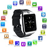 Bluetooth Smartwatch with Camera, EasySMX LG118 Smartwatch Cell Phone with Sim Card Slot, All in 1 Touch Screen Watch for iPhone, Android Samsung Galaxy Note, Nexus, HTC, Sony (Gun Metal)