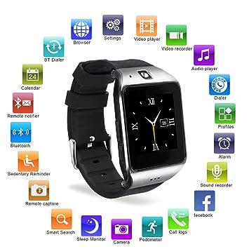 EasySMX [Regalos para Padre] Reloj Inteligente con Cámara Smartwatch Bluetooth en Batería 550mAh y