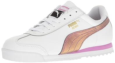 PUMA Men's Roma Basic Holo Fashion Sneaker, White-Gold, ...