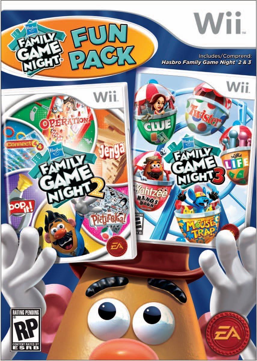 eaf1b3127 Amazon.com  Hasbro Family Game Night Fun Pack - Nintendo Wii  Video Games