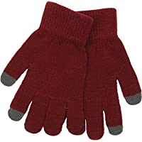 Ladies Touch Screen Knitted Gloves#(Red GLOVES#One Size#RJM419A#Women)