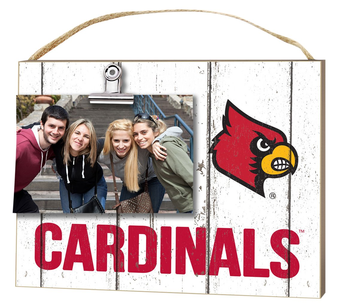KH Sports Fan 10''x8'' Louisville Cardinals Clip It Weathered Logo Collage Photo Frame by KH Sports Fan