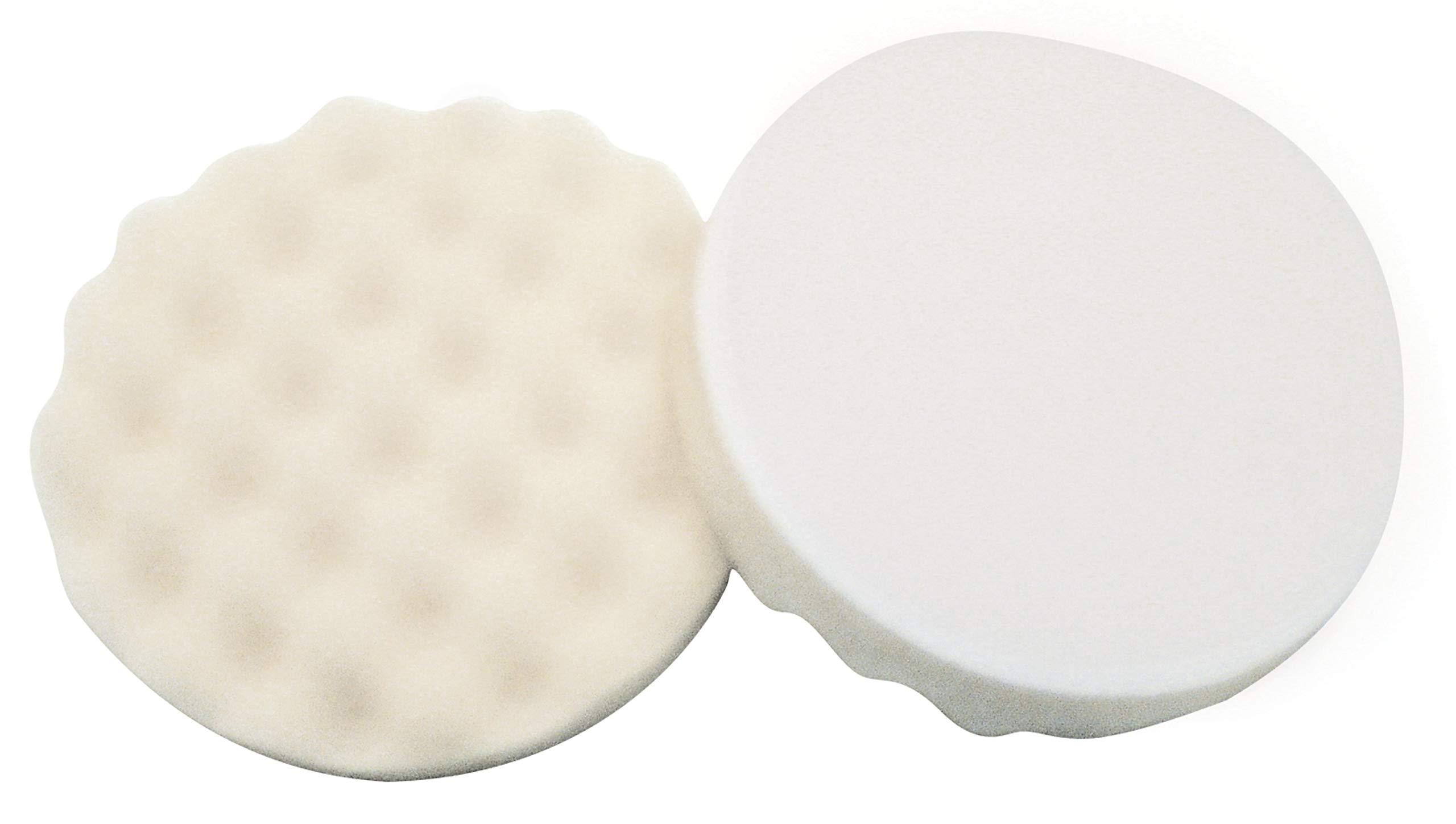 3M Finesse-it Buffing Pad 28401, 5-1/4 in White Open Cell Foam, 10 per Inner