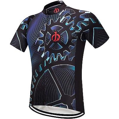 Moxilyn Camisetas de Ciclismo para Hombre, Camiseta Corta, Top de Ciclismo, Jerseys de Ciclismo, Ropa de Ciclismo, Mountain Bike/MTB Shirt, Transpirable y Que Absorbe El Sudor, Secado Rápido