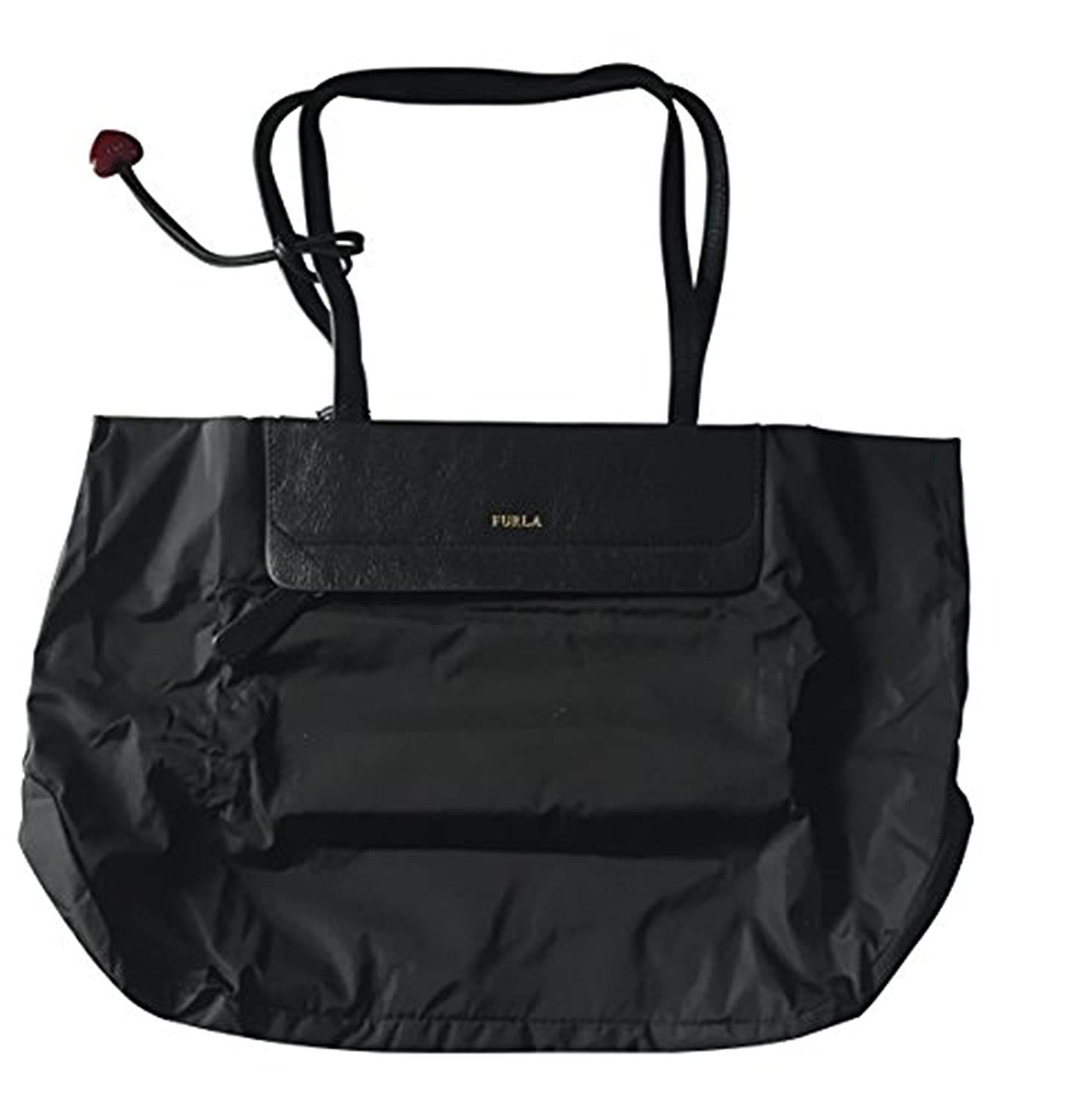 4ea69e0c980 Furla In-flight Tote Bag, Foldable Shopper in Leather and Nylon, Black;  Dimensions: 39 x 25 x 13 cm - BINFBQ60S50G0QO60-O60-ONYX#TU: Amazon.co.uk:  Shoes & ...