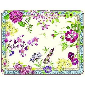 Gien - French Millefleurs acrílico tamaño grande Floral bandeja para ...