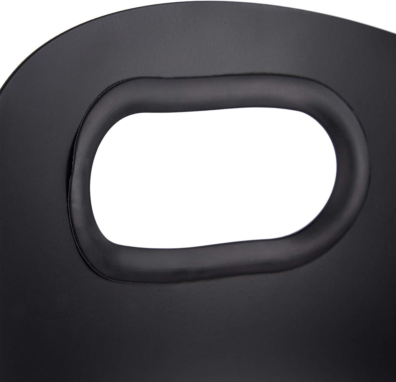 Negro Escoba Atizador /& Soporte Relaxdays Utensilios de Limpieza para chimeneas Pala Cuatro Accesorios