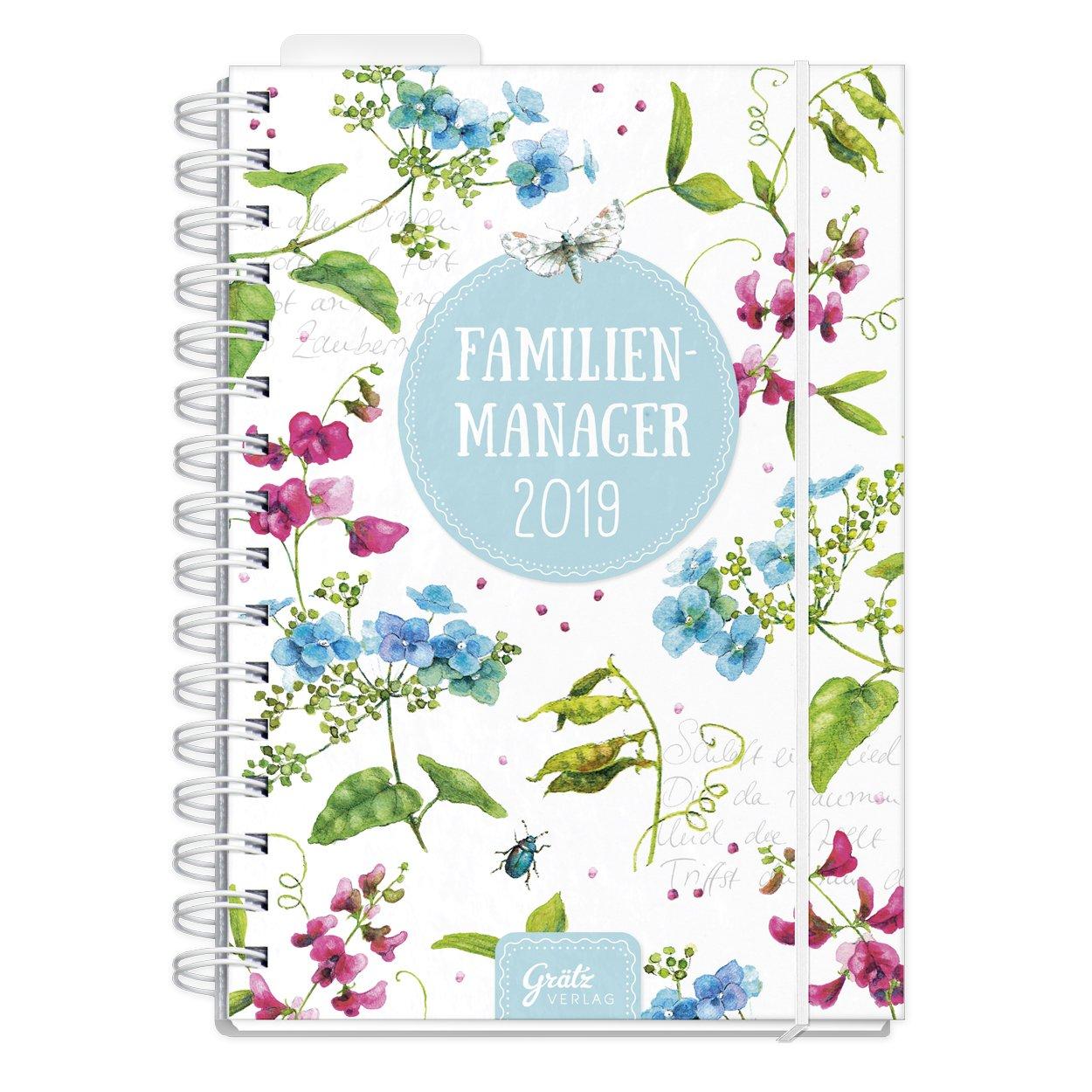 Familienmanager 2019 'Sommerglück', Daniela Drescher, Grätz Verlag Kalender – 1. Juni 2018 Grätz Verlag 3946861369 Kalender / Zeitplansysteme Zeitplansysteme / Kalender