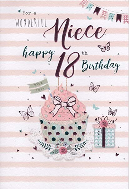 Special Niece 18th Birthday Card Amazoncouk Kitchen Home