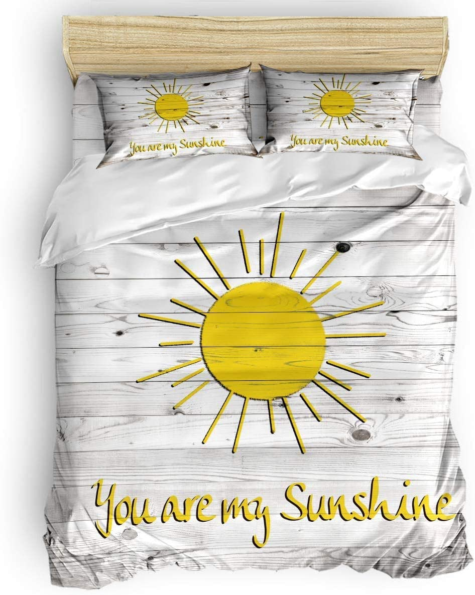 Inspirational Quotes Duvet Cover Set 3 Piece You Are My Sunshine Bedding Set 1 Quilt Cover With 2 Pillow Cases For Childrens Kids Teens Adults Amazon Co Uk Kitchen Home