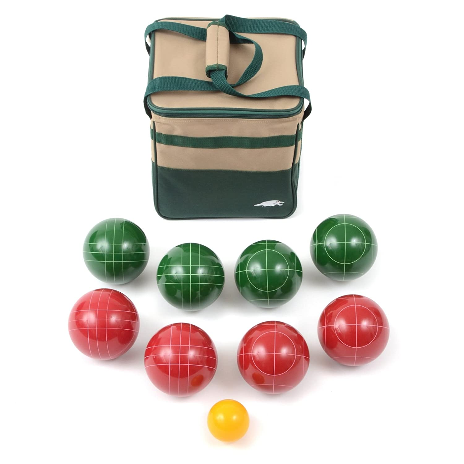 amazon com lion sports best 107 mm tournament resin bocce set in