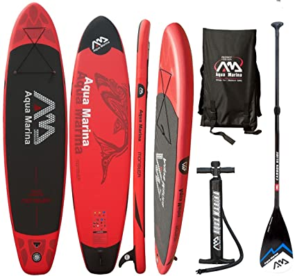 Aqua Marina Monster SUP hinchable Stand Up Paddle carbon Fibra de vidrio REMO