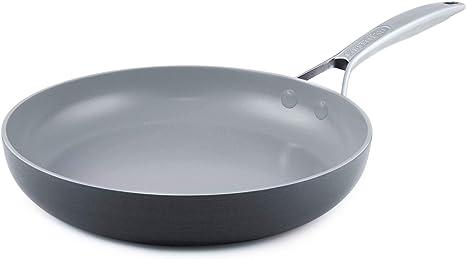 Inducci/ón GreenPan Wok Antiadherente de Cer/ámica Negro 28 cm Apto para Todo Tipo de Cocinas Horno y Lavavajillas
