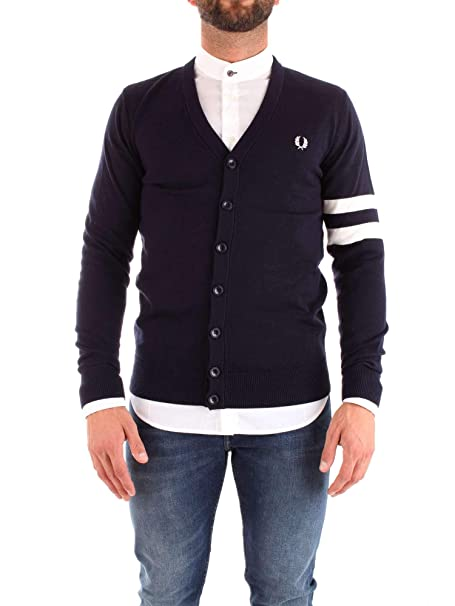 Fred Perry Tipped Sleeve Cardigan K2518 608-L: Amazon.es ...