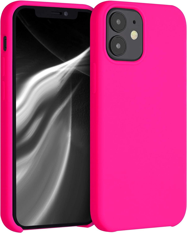 Kwmobile Hülle Für Apple Iphone 12 Mini Hülle Handyhülle Gummiert Handy Case In Neon Pink
