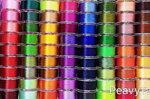 SPOOLS POLYESTER SEWING MACHINE THREADED BOBBINS 15  x METAL COLOUR COTTON