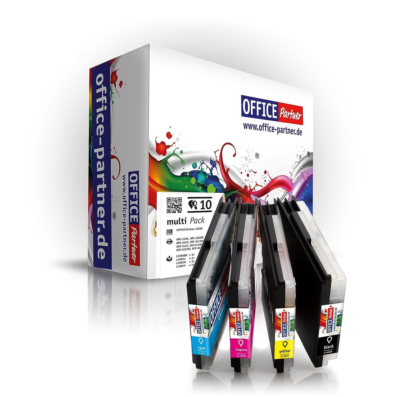 Multipack 10 Cartuchos de Tinta Compatible para Brother LC985 LC39 para Brother DCP-J125 / J140W / J-315 / J315W7 / J515W; MFC-J220 / J265W / J270W / ...
