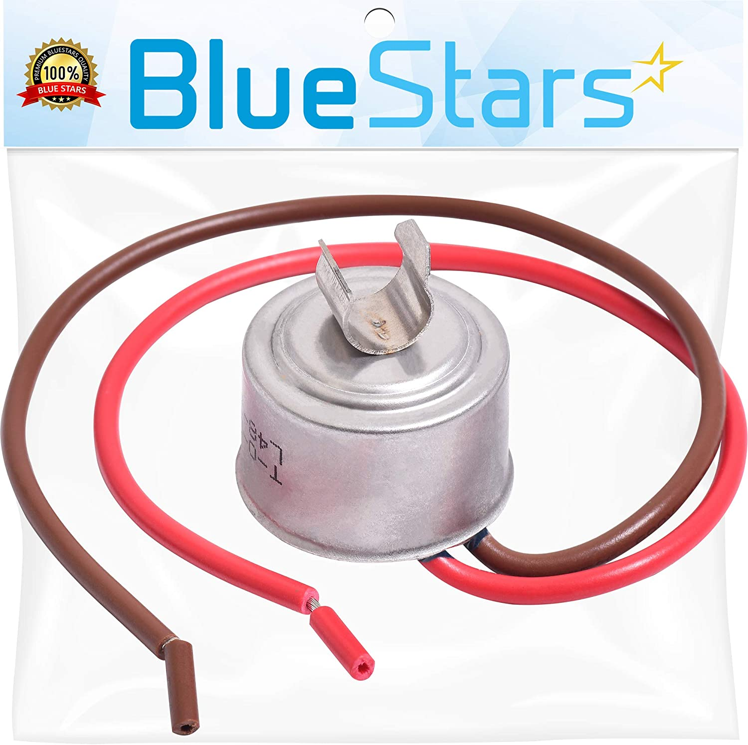 4387503 Refrigerator Bimetal Defrost Thermostat Replacement Part by Blue Stars - Exact Fit for Whirlpool & Kenmore Refrigerators - Replaces WP4387503 343917 61002113 PS11742474 AP6009317