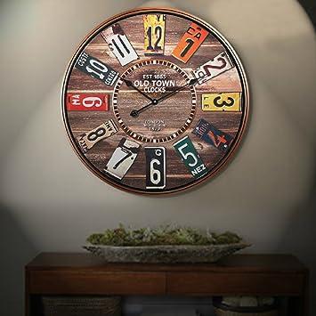Eh? Relojes de Madera Que cuelga Especiales clásicos del Reloj de Pared: Amazon.es: Hogar