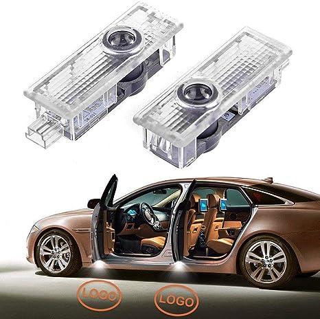 Packung mit 2 LED Auto T/ür Licht Projektor Pf/ütze Licht Willkommen Schatten Licht Auto Boden Lichter Schritt Lichter