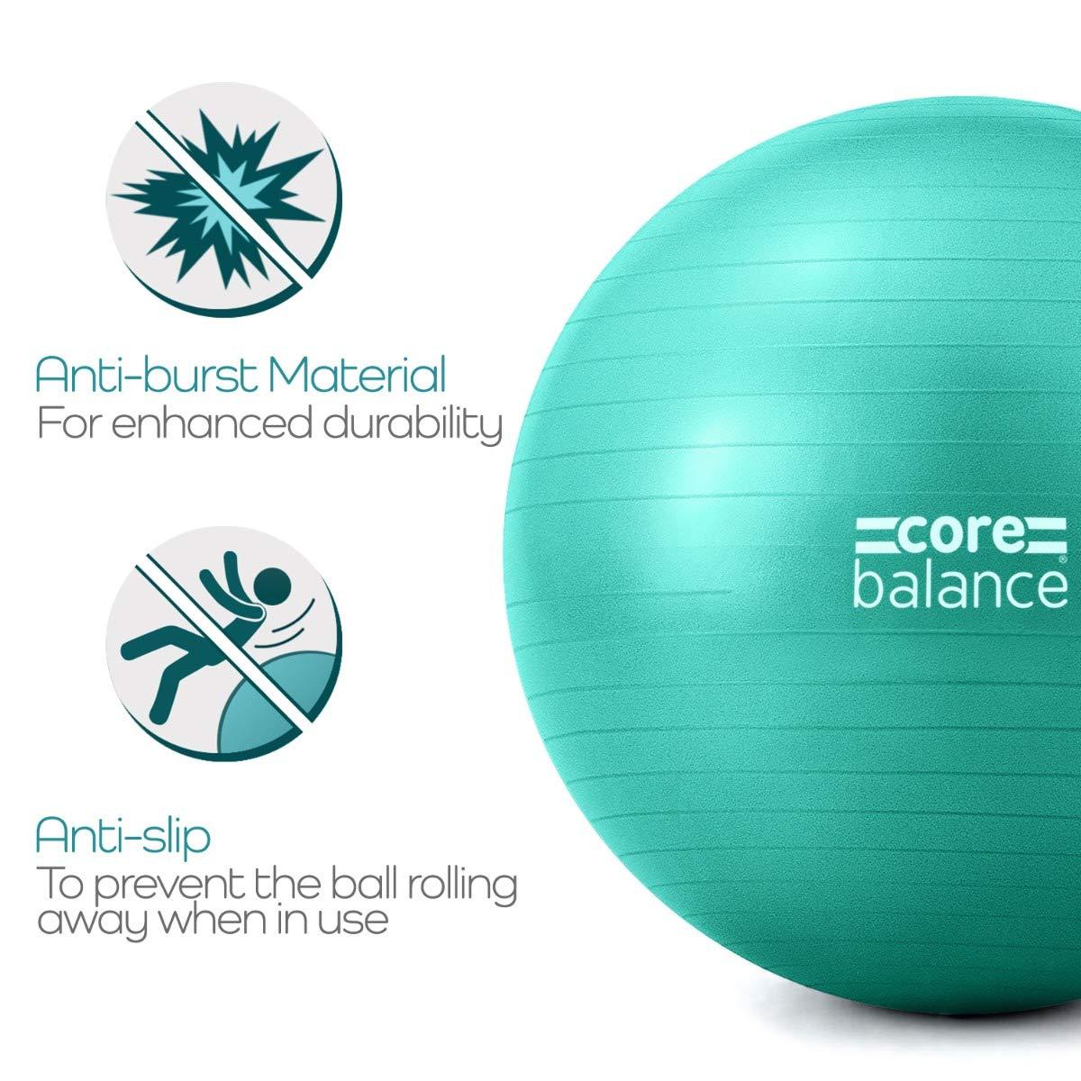 Core Balance Pelota de Pilates Muy Resistente. Fitball para Ejercicios Gimnasia Embarazo Fitness Yoga