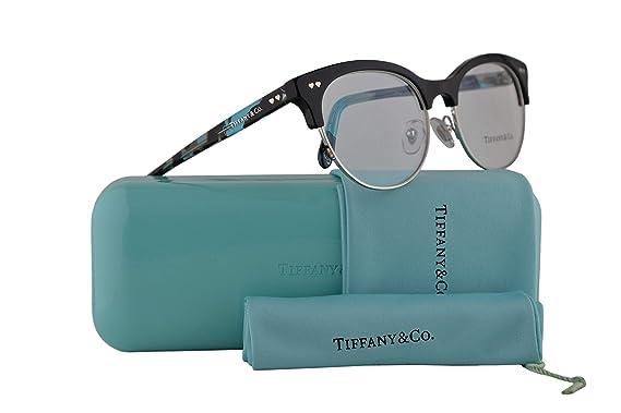 cc2493022c1 Amazon.com  Tiffany   Co. TF2156 Eyeglasses 51-17-140 Black Silver w ...