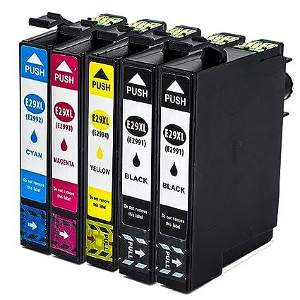 Ouguan - Cartuchos de tinta de repuesto para Epson 29 29XL ...