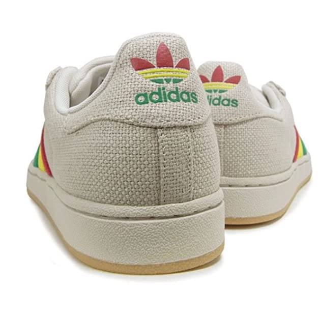 Adidas Originals Men's Superstar II Hemp Ivory Rasta Size