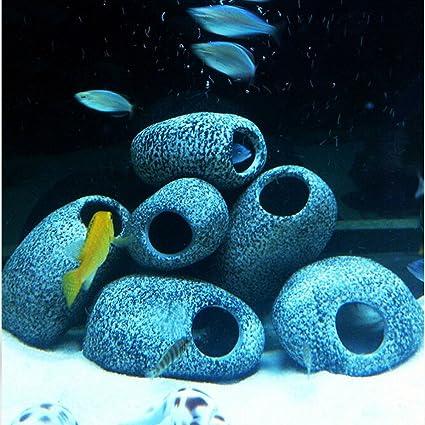 Tutoy Acuario cíclidos Piedras cerámica Roca Cueva Ornamento cíclidos Piedras Peces Tanque cíclidos Piedras decorati