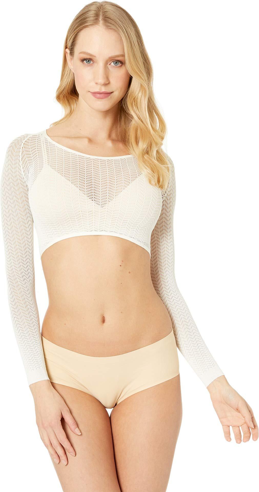SPANX Women's Herringbone Arm Tights Soft White Medium by SPANX