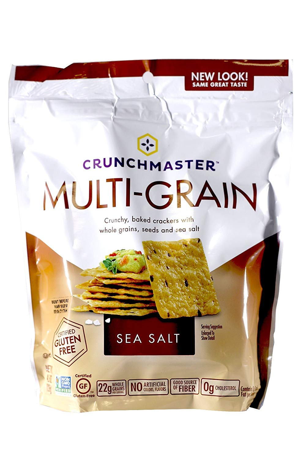 Crunchmaster Cracker - Sea Salt Flavor Gluten-Free, 4oz (Pack of 2)  by Crunchmaster