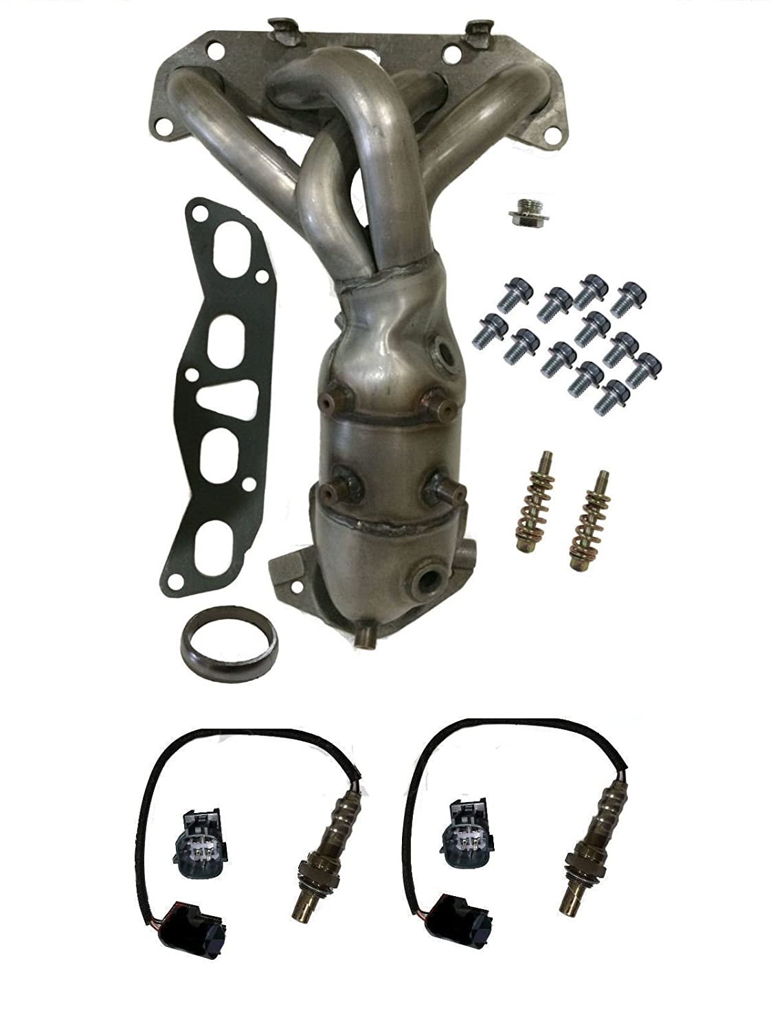 Amazon com exhaust manifold with o2 sensors catalytic converter fits nissan altima 2 5l new automotive