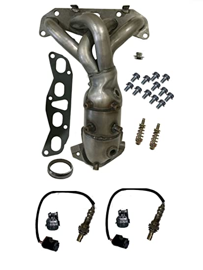 Amazon com: Exhaust Manifold with O2 Sensors Catalytic Converter
