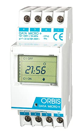 Orbis Data Micro Plus 230 V Interruptor horario Digital de Distribuidor, OB172012N: Amazon.es: Bricolaje y herramientas