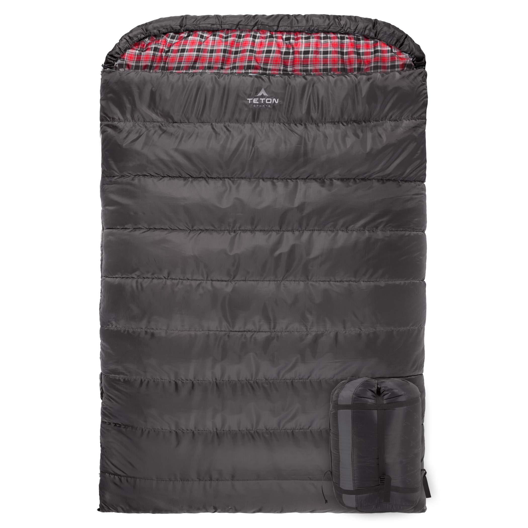 TETON Sports Mammoth +20F Queen-Size Double Sleeping Bag; Warm and Comfortable for Family Camping by TETON Sports