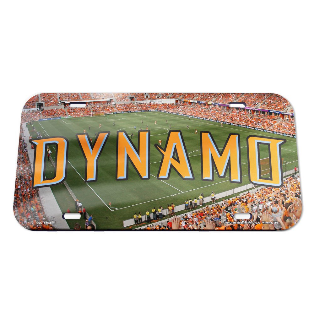 Black Wincraft Soccer WCR15230115 Houston Dynamo Crystal Mirror License Plate