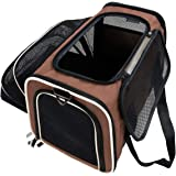 Nargos Expandable Soft Sided Travel Pet Carrier with Fleece Mat-Most Airline Approved