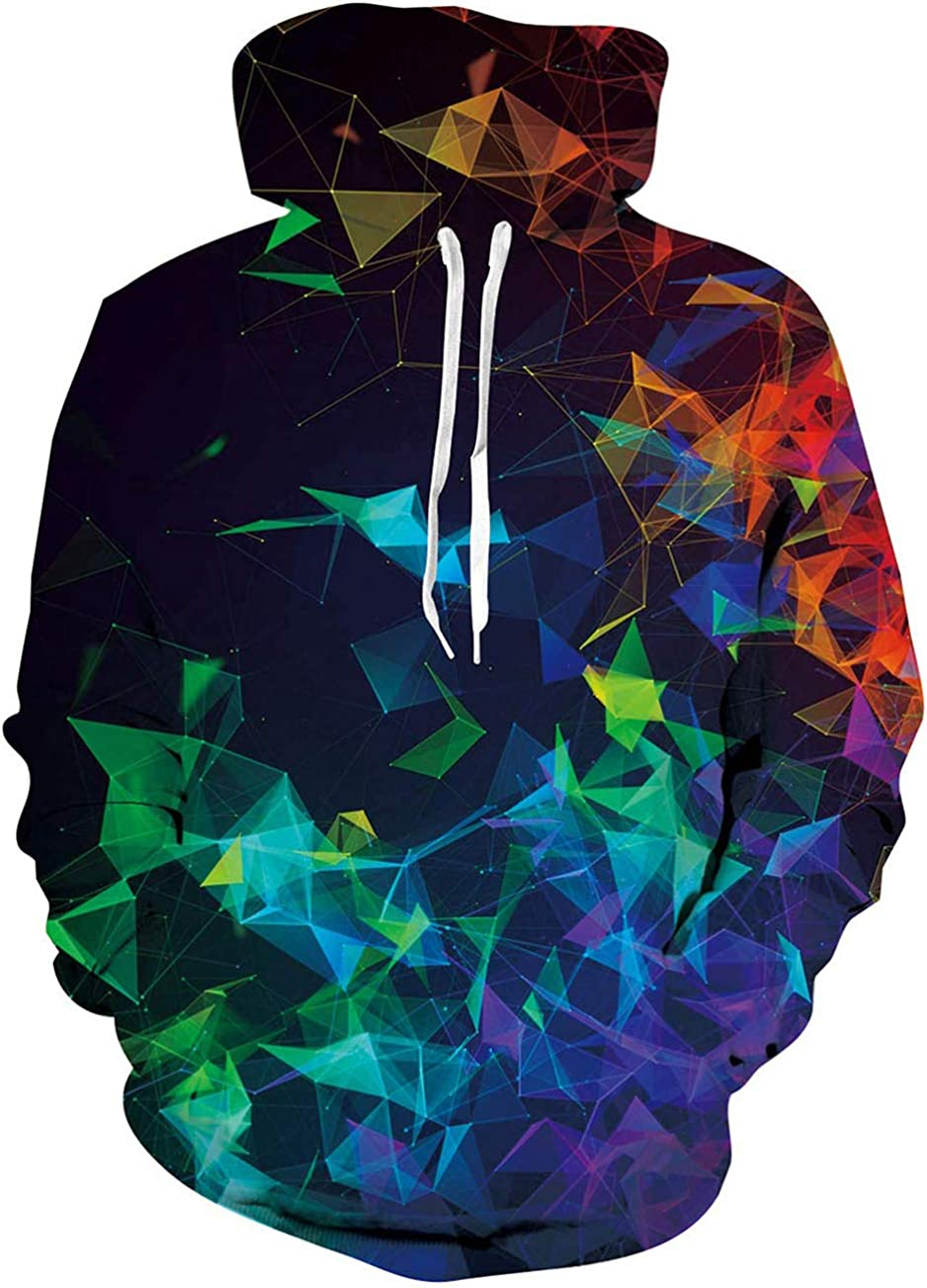 Loveternal Unisex Felpa con Cappuccio Stampato 3D Hoodie Tasche Coulisse Casual Sweatshirt