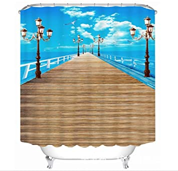 Amazon.com: GFYWZ Polyester 3D Individuality The way to the sea ...