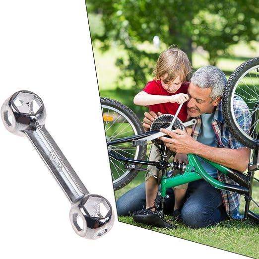 10 in 1 Portable Dog Bone Shape Bicycle Bike Cycling Hexagon Wrench Repair/_fd