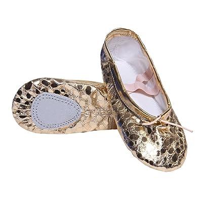 DoGeek Zapatos de Ballet de Cuero Zapatillas de Ballet de Danza Baile para Niños: Amazon.es: Zapatos y complementos