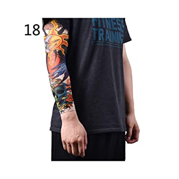 Men's Accessories Nylon Elastic Fake Temporary Tattoo Sleeve Designs Body Arm Stockings Tatoo For Men Women Arm Warmer New Arrival Apparel Accessories
